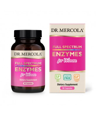 Full Spectrum for Women Enzymes (90 Capsules) - Dr. Mercola
