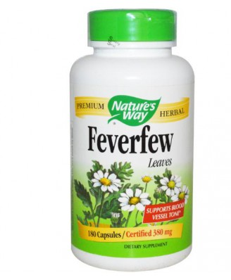 Feverfew Leaves, 380 mg (180 Capsules) - Nature's Way