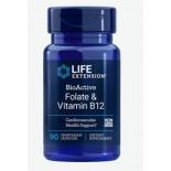 BioActive Folate and Vitamin B12 (90 Veggie Capsules) - Life Extension