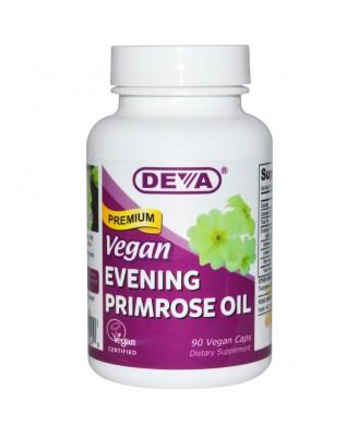 Premium Vegan Evening Primrose Oil (90 Vegan Caps) - Deva