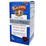 Wild & Whole Alaskan Salmon Oil (180 Softgels) - Barleans