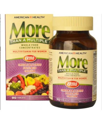 American Health, More Than A Multiple, Multivitamin for Women, 90 Tablets