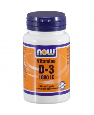Vitamine D-3 1000 IE (90 softgels) - Now Foods