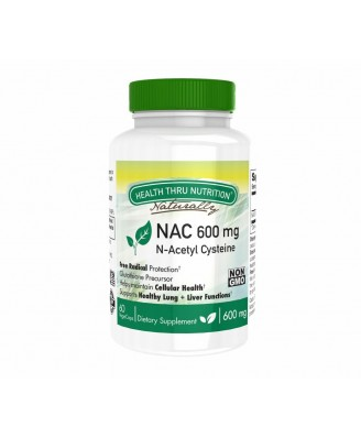 N-Acetyl Cysteine NAC 600 mg (non-GMO) (60 Vegicaps) - Health Thru Nutrition