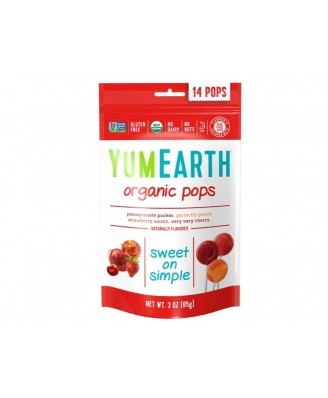 Organic Pops - Assorted Flavors 14 Pops (85 Gram) - Yummy Earth