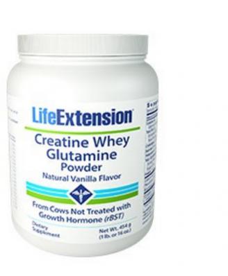 Creatine whey glutamine powder (vanilla) - 454 grams - Life Extension