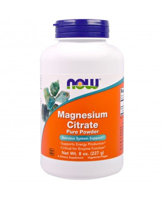 Magnesium Citrate Pure Powder (227 gram) - Now Foods