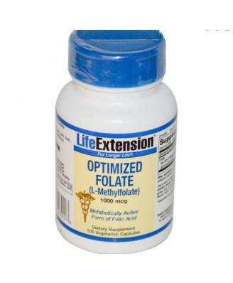Geoptimaliseerd Foliumzuur (L-Methylfolate), 1000 mcg (100 Veggie Caps) - Life Extension