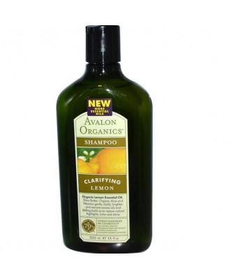 Avalon Organics, Shampoo, Clarifying Lemon, 11 fl oz (325 ml)