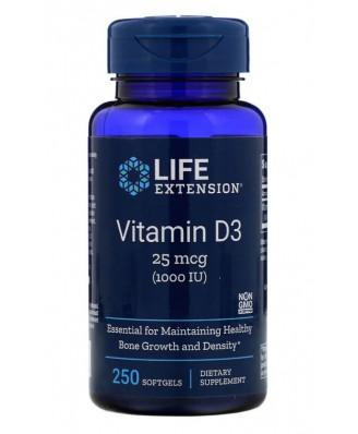 Vitamin D3 1000 IU (250 Softgels)