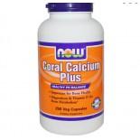Calcium - Coral Calcium Plus (250 Vcaps) - Now Foods