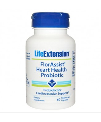 FlorAssist Heart Health Probiotic - 60 vegetarian capsules - Life extension