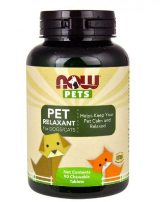 Pets - Pet Relaxant For Dogs/Cats (90 chewable tablets) - Now Foods