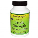 Healthy Origins, Natural Triple Strength Astaxanthin, 12 mg, 60 Softgels