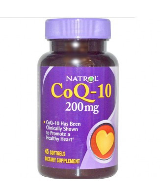 Natrol, Co-Q10, 200 mg, 45 Softgels