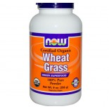 Certified Organic Wheat Grass (255 Gram) - Now Foods