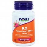 Vitamine K2 Menachinon 7 100 mcg (60 veggie caps) - Now Foods