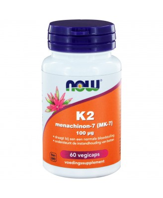 Vitamine K2 Menachinon 7 100 mcg (60 veggie caps) - Now Foods