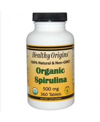Organic Spirulina 500 mg (360 Tablets) - Healthy Origins