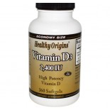 Vitamine D3 2400 IE (360 Softgels) - Healthy Origins