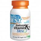 Doctor's Best, Natural Vitamin K2, Mena Q7, 45 mcg, 180 Veggie Caps