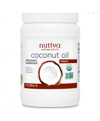 Nutiva, Organic Extra Virgin Coconut Oil, 29 fl oz (858 ml)