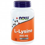 L-Lysine 500 mg (100 caps) - NOW Foods