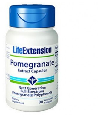 Pomegranate Extract Capsules, 30 vegetarian capsules - Life Extension