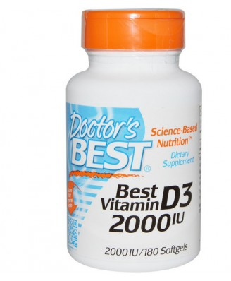 Best Vitamin D3 2000 IU (180 Softgels) - Doctor's Best