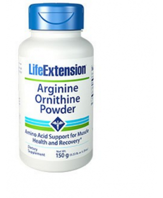 Arginine Ornithine Powder 150 Grams (5.29 Oz) - Life Extension