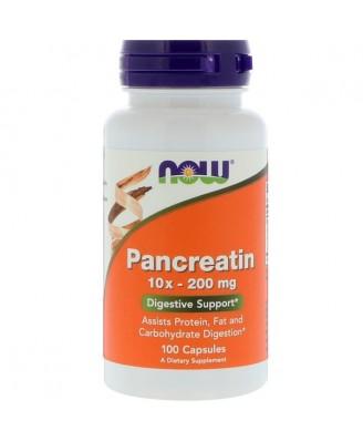 Pancreatin 10X - 200 mg (100 capsules) - Now Foods
