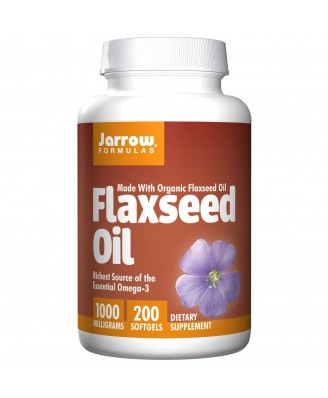 Organic Flaxseed Oil 1000 mg (200 Softgels) - Jarrow Formulas