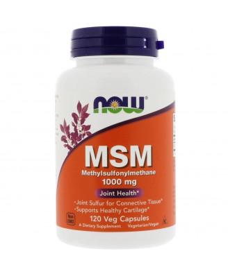 MSM - Methylsulfonylmethane 1.000 mg (120 Vegetarian Capsules) - Now Foods