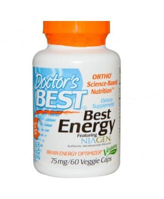 Doctor's Best, Best Energy featuring NIAGEN (60 vegetarian caps)