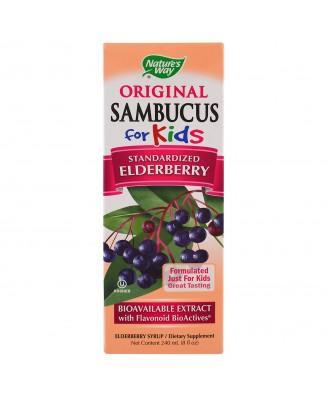 Original Sambucus For Kids, Elderberry , 8 fl oz (240 ml) - Nature's Way