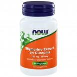 Silymarine Extract 150 mg en Curcuma 350 mg (60 vegicaps) - NOW Foods