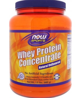 Whey Protein Concentrate - Natural Unflavored (680 gram) - Now Foods