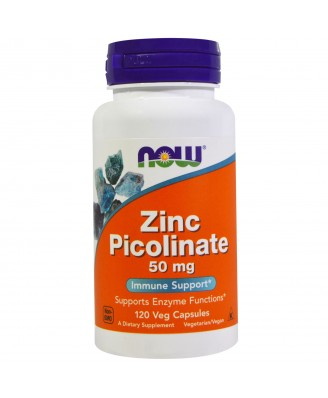 Zinc Picolinate 50 mg (120 Veggie Capsules) - Now Foods