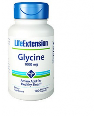 Glycine 1000 mg - 100 vegeterian capsules - Life Extension