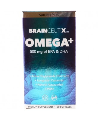 Brainceutix Omega+ 500 mg (60 Softgels) - Nature's Plus