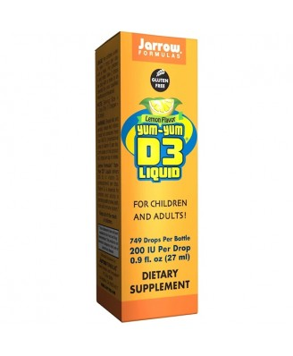 Yum-Yum D3 Liquid Lemon Flavor (27 ml) - Jarrow Formulas