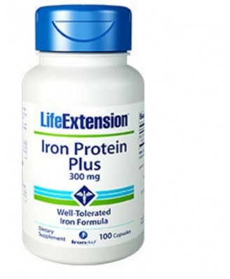 Iron Protein Plus 300 mg - 100 Capsules - Life Extension