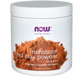 Moroccan Red Clay Facial Detox Powder (170 gram) - Now Foods