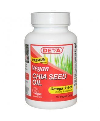 Chia Seed Oil (90 Vegan Caps) - Deva