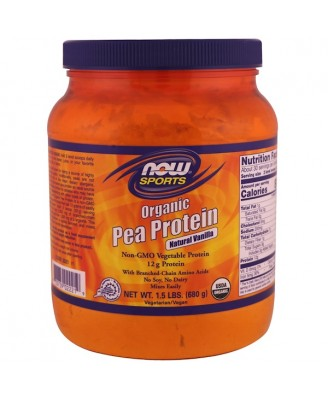 Organic Pea Protein- Natural Vanilla (680 gram) - Now Foods