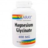 Magnesium Glycinate- 400 mg (120 Vegetarian Capsules) - Solaray