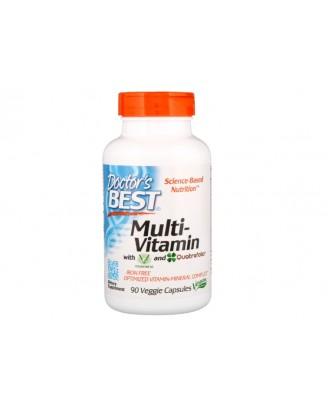 Multi-Vitamin with Vitashine D3 and Quatrefolic (90 Veggie Capsules) - Doctor's Best