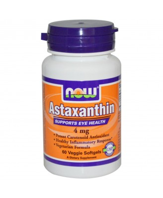 Astaxanthin 4 mg (60 Veggie Softgels) - Now Foods