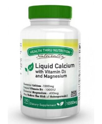 Calcium 1000 mg / Magnesium 400 mg + 1000iu D3 (non-GMO) (100 Softgels) - Health Thru Nutrition