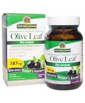 Olive Leaf, Standardized Herbal Extract, 187 mg (60 Veggie Caps) - Nature's Answer